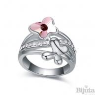 Пръстен Пеперуди розе