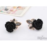 Обеци Черна роза