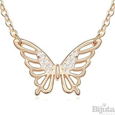 Колие Пеперуда кристал