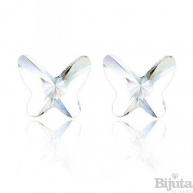 Обеци Пеперуди кристал