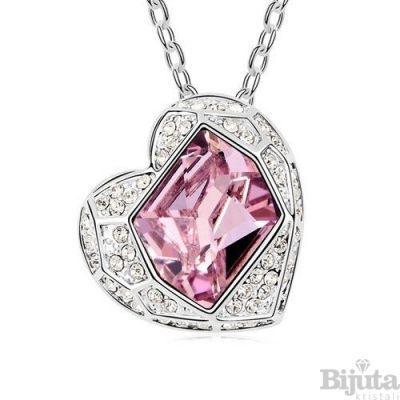 Колие Луксозно сърце розе