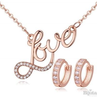 Комплект Love розе голд