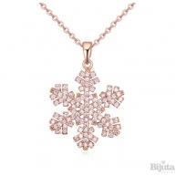 Колие Снежинка розе голд