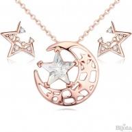 Комплект Звезди розе голд