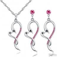 Комплект Лебеди розе